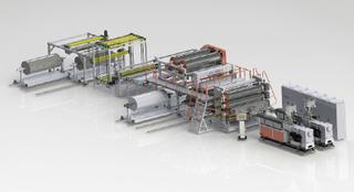 PVC防水卷材生產線