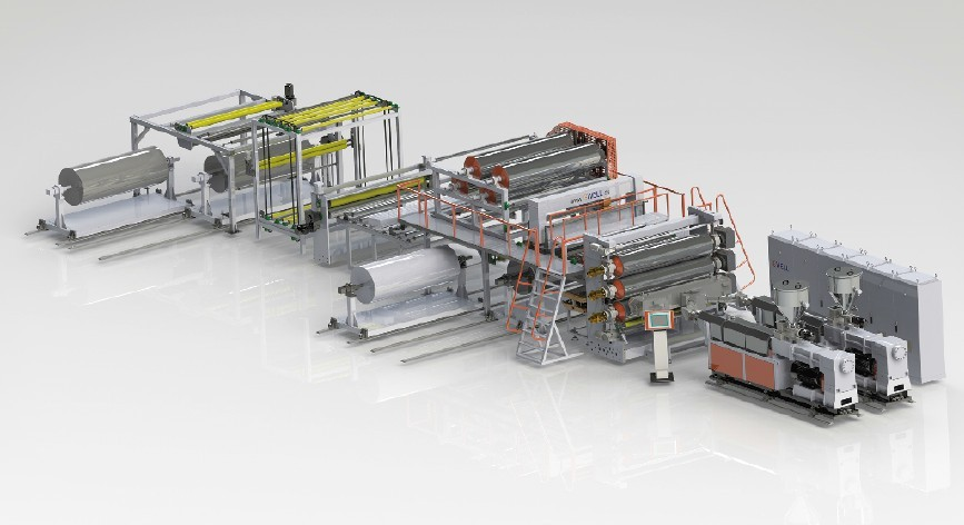 PVC防水卷材生产线